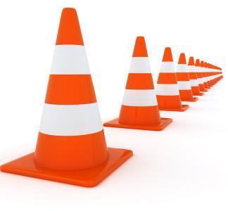 čunjevi za označavanje kolnika, prometna signalizacija, regulacija ceste