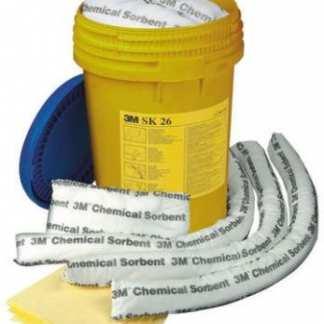 3M Komplet upijača kemikalija Sorbents-Spill-Kit-Set SK-26 GT500012999, hitna intervencija-čišćenje kemikalija kod izlijevanja. Sigurna i efikasna sanacija prolivenih opasnih kemikalija tekućina