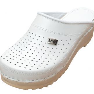 Bijele klompe s gumenim pregibom, bolničke, zaštitna obuća, sanitetske, dom zdravlja