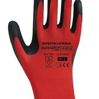Poliesterske zaštitne rukavice s lateks crnim premazom