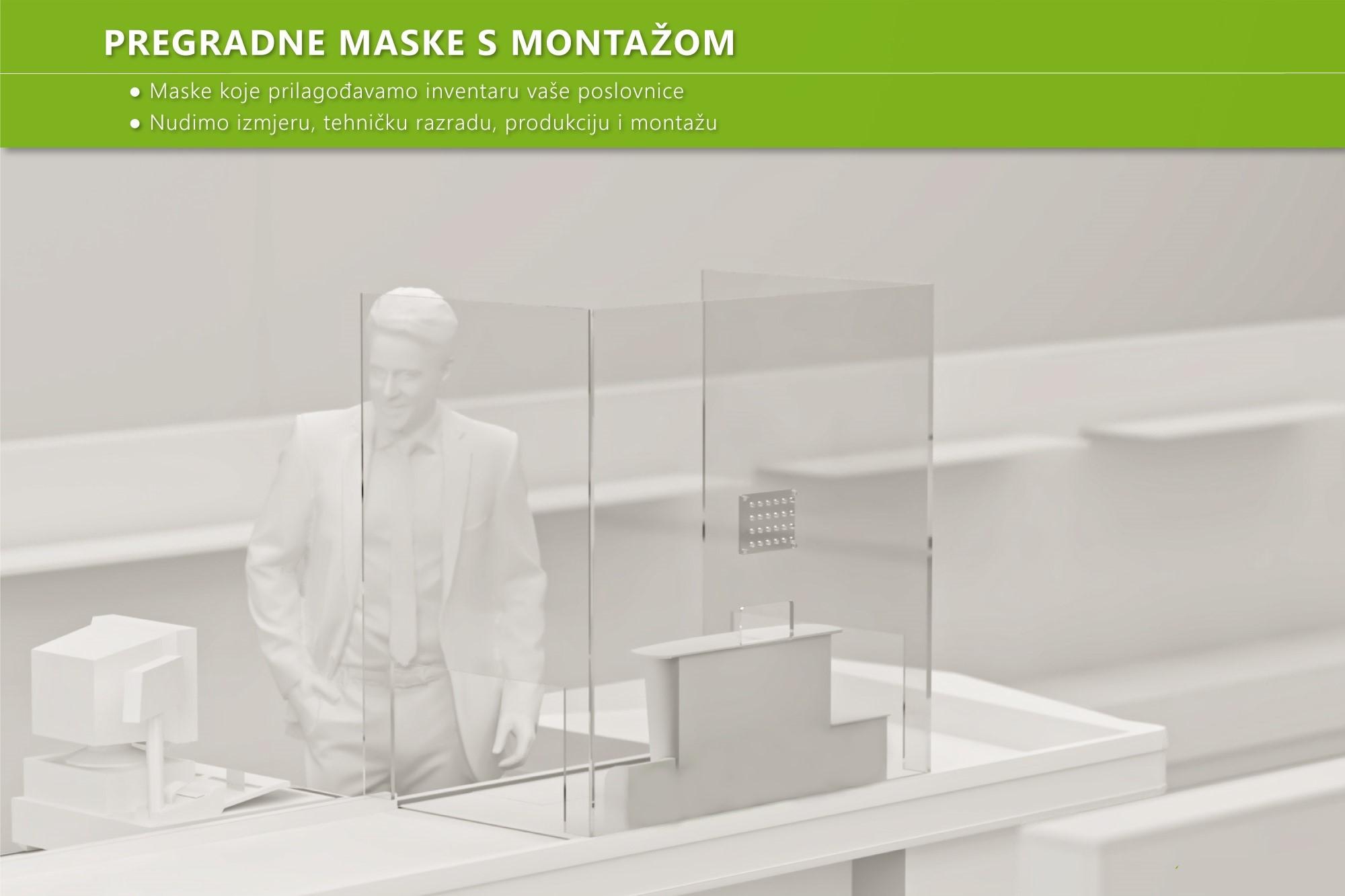 Pleksiglas pregrade, plexiglas ograde-zaštita zaposlenika, gostiju i kupaca